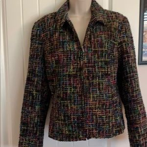 Cold water Creek fully lined boucle jacket l